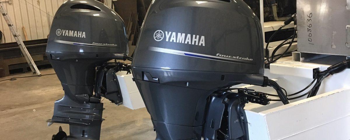 Twin Yamaha Engines Installed on 30' Barge